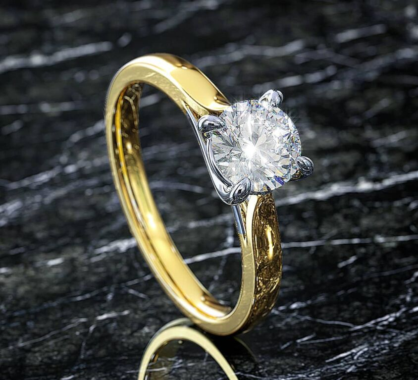 Yellow & White gold Solitaire