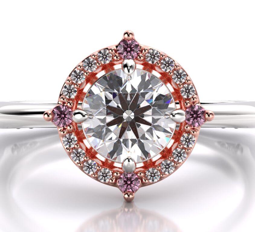 Argyle pink diamonds cluster ring