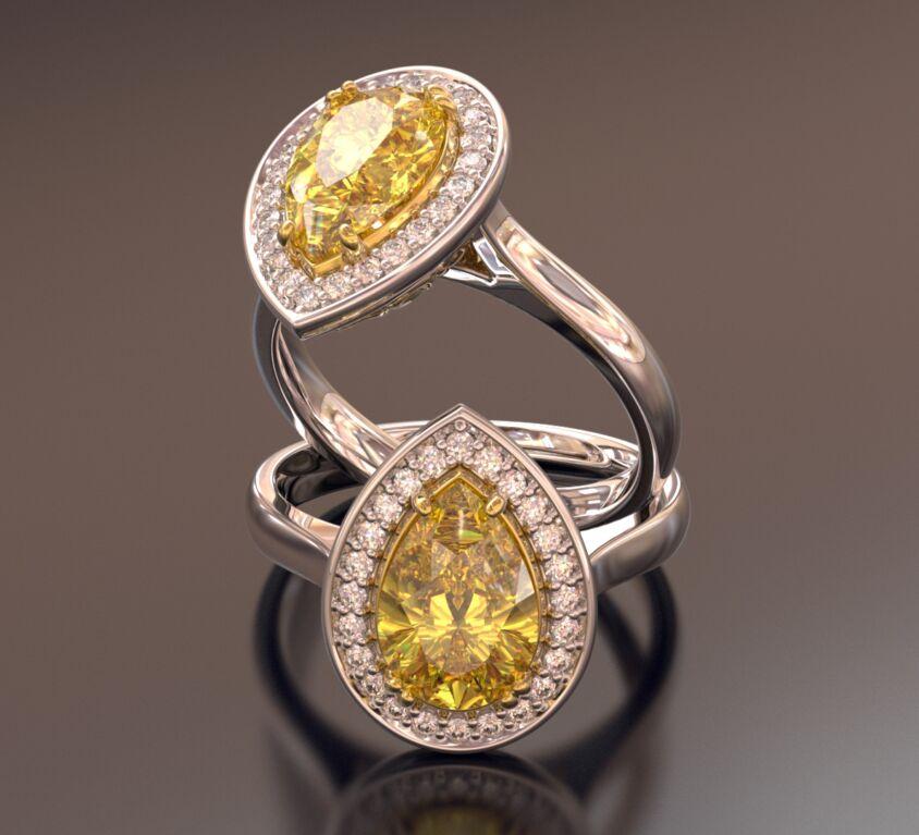 Fancy Yellow Light Diamond ring