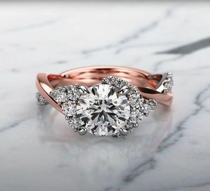 Asymmetrical fancy ring