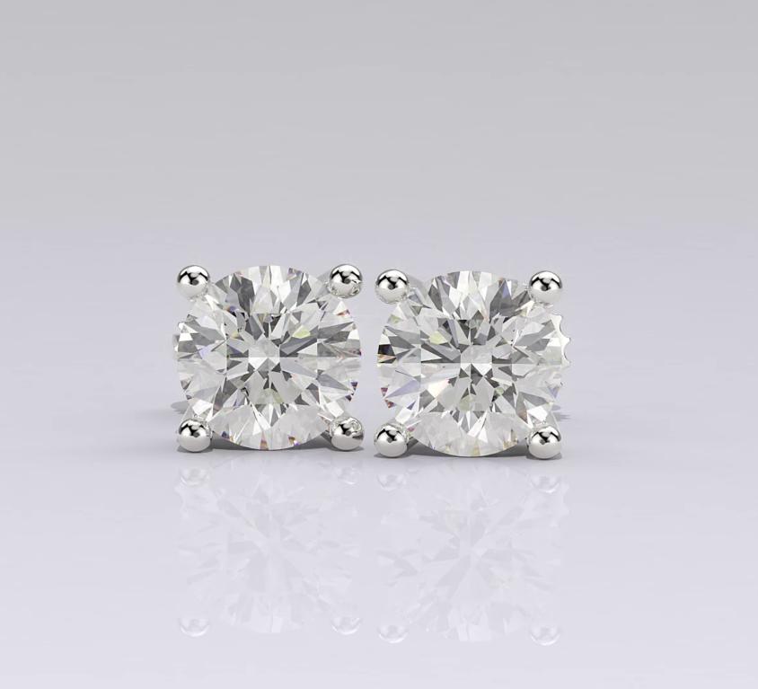 Simple diamond earrings
